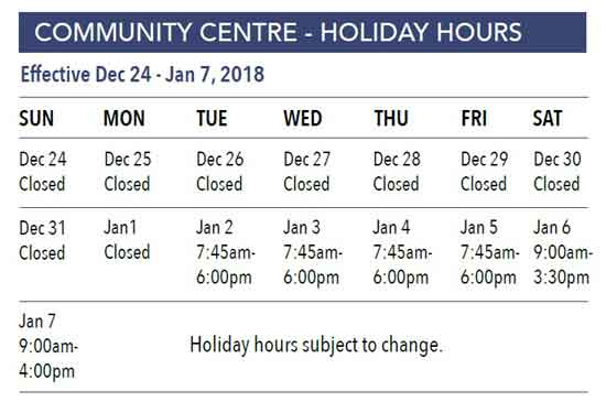 Centre-Holiday-Hours