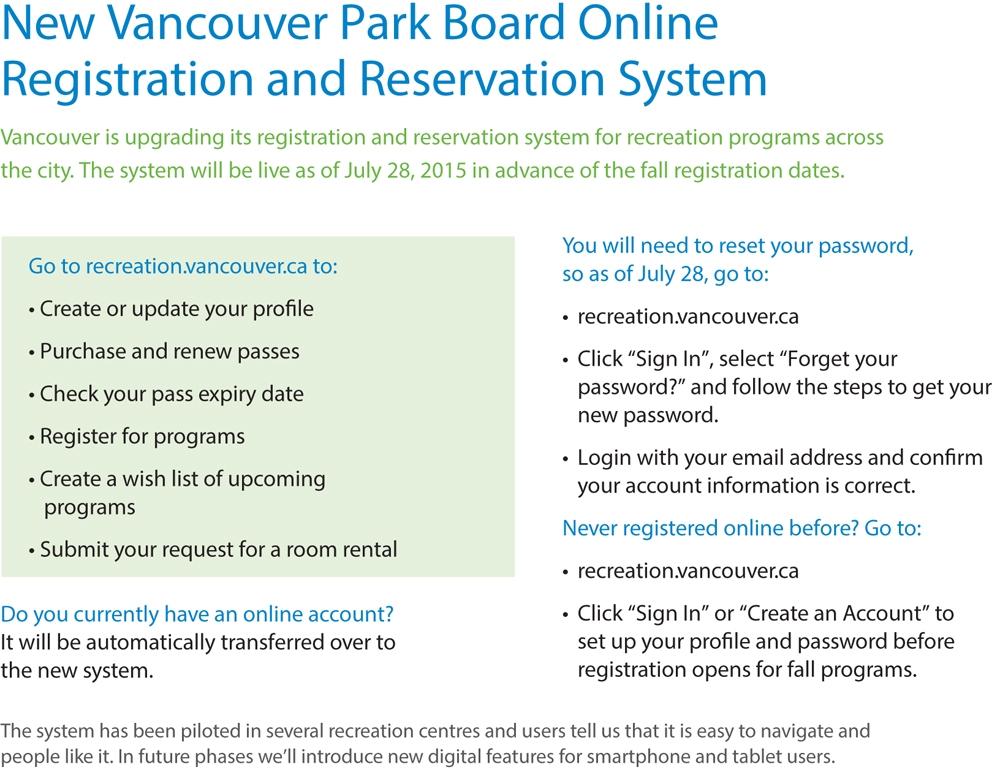 new register info
