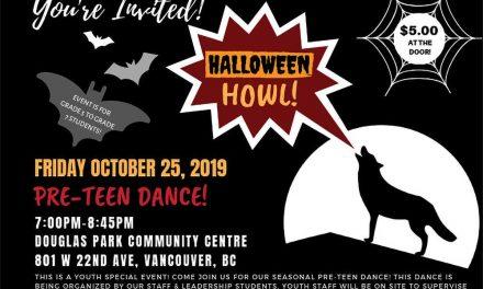 Halloween Howl Pre-Teen Dance-Oct 25