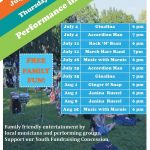 Performance in the Park-July & August